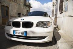 Carro privado de Matera, Italia 26 de julho de 2017 Série 1 do Bmw Fotos sobre Fotografia de Stock