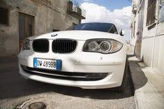 Carro privado de Matera, Italia 26 de julho de 2017 Série 1 do Bmw Fotos sobre Imagem de Stock Royalty Free