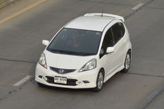 Carro privado Honda Jazz do recolhimento Foto de Stock