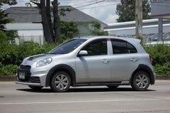Carro privado Nissan March de Eco Imagens de Stock