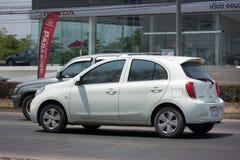 Carro privado Nissan March de Eco Fotos de Stock