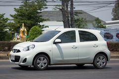 Carro privado Nissan March de Eco Foto de Stock Royalty Free
