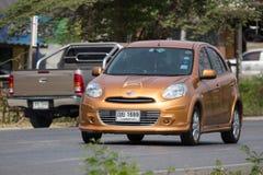 Carro privado Nissan March de Eco Fotos de Stock Royalty Free