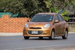 Carro privado Nissan March de Eco Imagem de Stock
