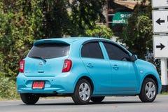 Carro privado Nissan March de Eco Foto de Stock
