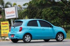 Carro privado Nissan March de Eco Fotografia de Stock Royalty Free