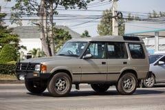 Carro privado Terra Rover Discovery fotografia de stock