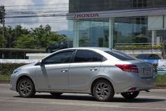 Carro privado Toyota Vios do sedan Fotografia de Stock