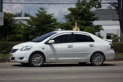 Carro privado Toyota Vios do sedan Foto de Stock