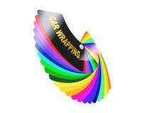 Carro que envolve a amostra de folha da paleta de cores do filme Imagem de Stock Royalty Free