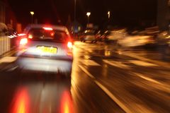 Carro que freia de repente Fotografia de Stock Royalty Free