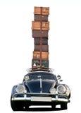 Carro que viaja - estilo clássico Fotografia de Stock Royalty Free