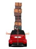 Carro que viaja - polegares acima Imagem de Stock