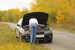 Carro quebrado fotos de stock