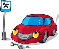 Carro quebrado desenhos animados Imagens de Stock Royalty Free
