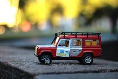 Carro quebrado do brinquedo Foto de Stock Royalty Free