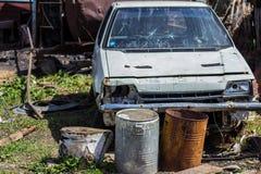 Carro quebrado velho Imagem de Stock Royalty Free