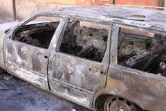 Carro queimado Foto de Stock