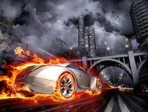 Carro quente Imagem de Stock Royalty Free