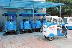 Carro rápido da limpeza Fotografia de Stock Royalty Free