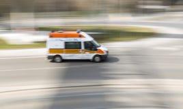 Carro rápido do acidente do salvamento da ambulância Fotos de Stock Royalty Free