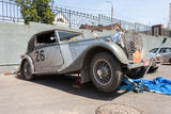 Carro retro Bentley Drophead 1936 anos Imagem de Stock