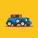 Carro retro da ilustração do vetor Fotografia de Stock Royalty Free