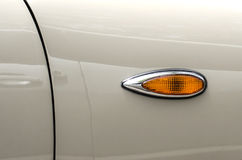 Carro retro da lâmpada de pisca-pisca Imagens de Stock Royalty Free