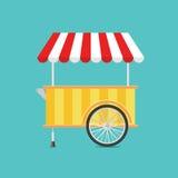 Carro retro del helado del vector Imágenes de archivo libres de regalías