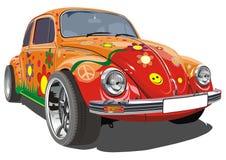 Carro retro dos desenhos animados do vetor Foto de Stock Royalty Free
