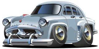 Carro retro dos desenhos animados do vetor Fotos de Stock