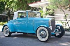 Carro retro na parada do carro do vintage Imagem de Stock Royalty Free
