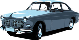 Carro retro no formato 3 Imagens de Stock Royalty Free