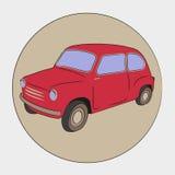 Carro retro pequeno ilustração stock