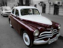 Carro retro soviético Fotos de Stock