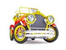 carro 1910 retro vermelho Imagens de Stock