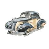 Carro retro watercolor Fotografia de Stock Royalty Free