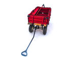 Carro rojo aislado Foto de archivo libre de regalías