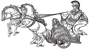 Carro romano de la guerra stock de ilustración