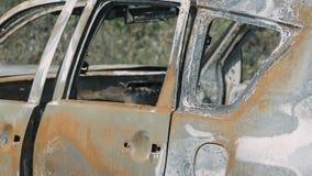 Carro roubado e queimado filme