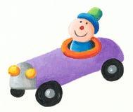 Carro roxo do brinquedo Foto de Stock