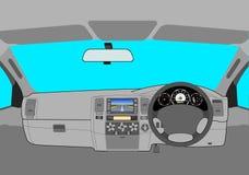 carro sem um excitador na estrada. ilustração do vetor