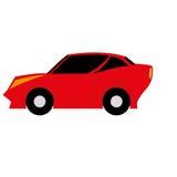 Carro simples dos desenhos animados do vetor no fundo branco Ilustração Royalty Free