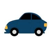 Carro simples dos desenhos animados do vetor no fundo branco Ilustração Stock