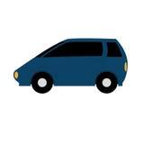 Carro simples dos desenhos animados do vetor no fundo branco Ilustração do Vetor