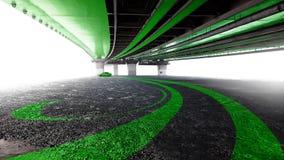 Carro sob a ponte fotografia de stock royalty free