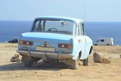 Carro soviético velho foto de stock