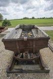 Carro subterrâneo da mina de carvão Foto de Stock