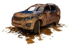 Carro sujo de SUV ilustração do vetor
