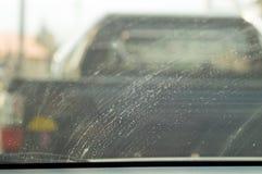 Carro sujo do espelho Fotografia de Stock Royalty Free